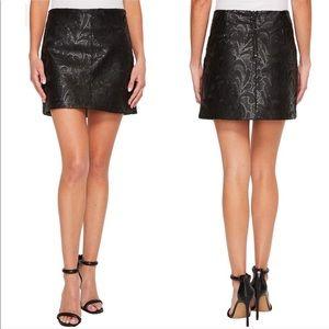 BLANKNYC Denim Sequin Faux Leather Miniskirt